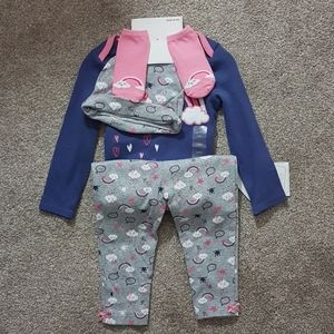 Toddler Onesie Leggings Hat And Socks Set 18 Month